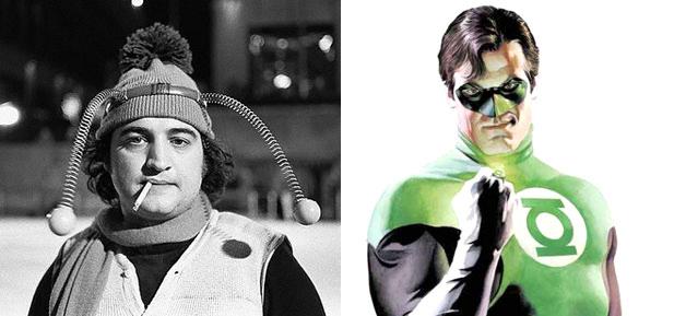 John Belushi as Green Lantern