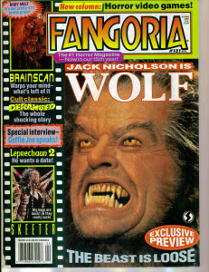 Mosquito on the cover of Fangoria