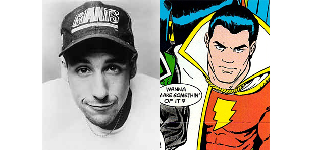 ADAM SANDLER AS CAPTAIN MARVEL