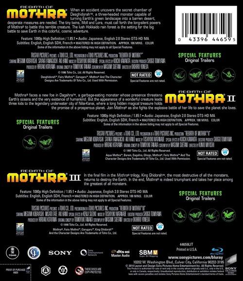 rebirth of mothra trilogy blu ray